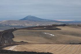 The site of the First Wind 105-megawatt wind turbine project in eastern Washington.