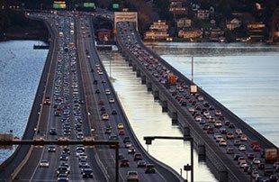 I-90 bridge over Lake Washington.