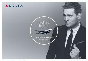Jazz singer Michael Bublé is teaming with Delta Airlines to tout the airline's Seattle expansion.