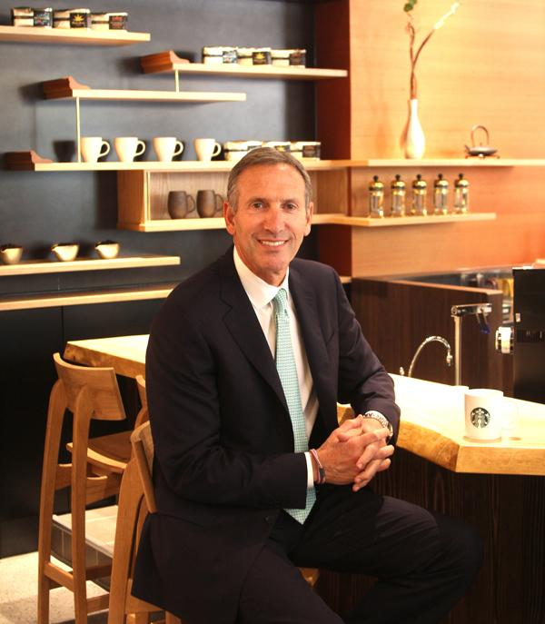 Starbucks Corp. CEO Howard Schultz, at the opening of a new location in Japan.