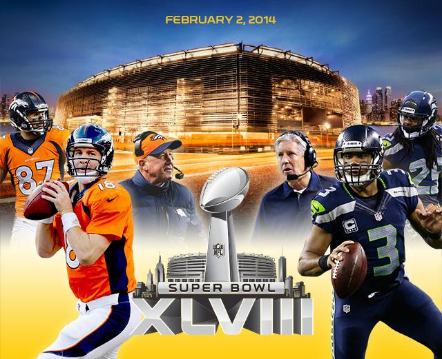 The Denver Broncos are early favorites in Las Vegas to beat the Seattle Seahawks in Super Bowl XLVIII.