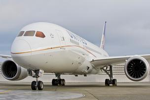 Untied Airlines on Monday became the first domestic airline to take delivery of a 787 Dreamliner from the Boeing Co.