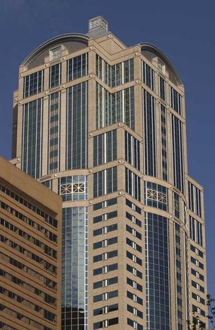 The 55-story 1201 Third Avenue tower used to be Washington Mutual's headquarters, until it moved a block away in 2006.