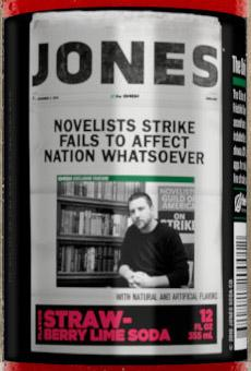 One of the six satirical labels from The Onion that will appear on limited-edition Jones Soda bottles.