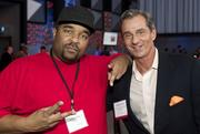 Sir-Mix-A-Lot and Puget Sound Business Journal Publisher Gordon Prouty during the TechFlash Flashies at the Experience Music Project in Seattle.
