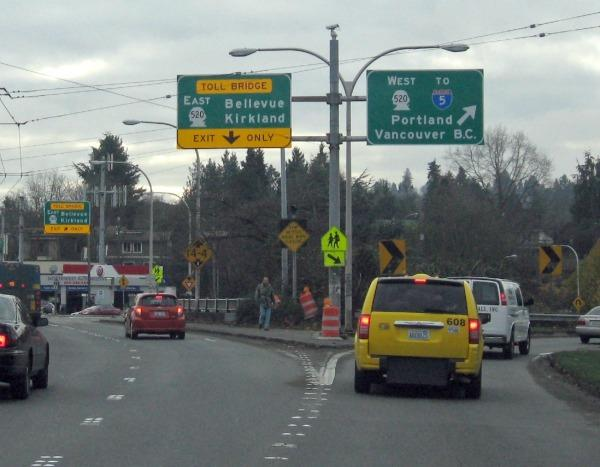 Tolling on the 520 bridge began today. A round trip during peak hours may run up to $10. But for Microsoft employees, the free Connector service is an option.