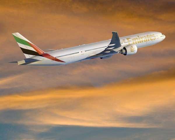 An Emirates Boeing 777 aircraft.