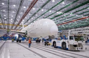 Hints by Boeing Commercial Airplanes CEO Jim Albaugh that Boeing might expand in Charleston or push 787 production above 10 a month are being watched closely on both coasts.