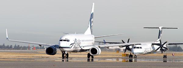 A Sprint data glitch caused the Alaska Airlines ticketing system to shut down for four hours on Monday.
