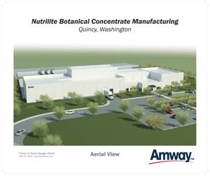 An artist's rendition of the planned Amway plant in Quincy.