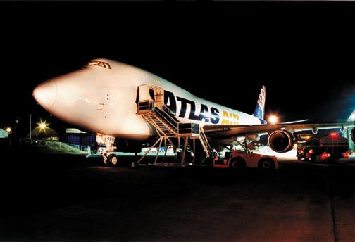 Atlas Air only operates 747 aircraft, most of them 747-400s.