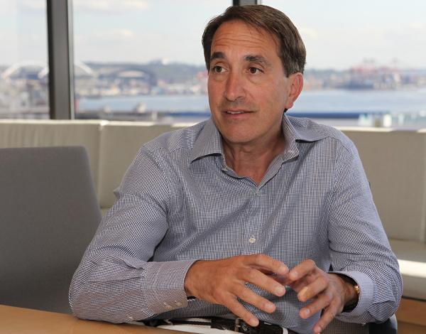 """Cell Therapeutics CEO James Bianco, speaking during an interview in his Seattle office on Aug. 30, says of the company's stock: """"I don't have that crystal ball."""""""