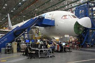 Fewer workers are needed on the Boeing 787 line as production snags get straightened out. This will help Boeing Commercial Airplanes, a division of Boeing Co., gradually trim its work force size starting next year.