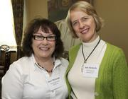 Janet  McDough, left, of Washington State University, and Julie Richards, of UBS  Financial Services Inc., during a Business Journal Live event at the  Harbor Club in Bellevue on Friday.