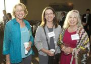 From  left, Ann Breese of Turner Research Network, Dorothy Adkins of DPA  Consulting and Karn Sjostrom of Washington State University during a  Business Journal Live event at the Harbor Club in Bellevue on Friday.