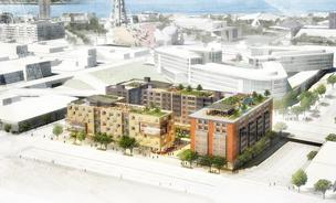 Vulcan Real Estate is proposing a block of low- and moderate-income housing and social service agencies in South Lake Union.