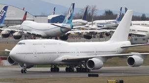 The Boeing Co. on Monday announced an order from Cathay Pacific Airways for three of its 747-8 aircraft.
