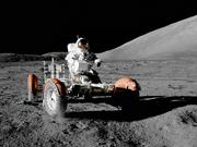 The lunar rover driven by astronaut Eugene A. Cernan on Dec. 11, 1972, during the Apollo 17 mission was made by Boeing at its facility in Kent.