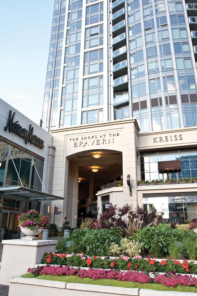 Apartments and offices are located above The Shops at The Bravern in the Bellevue complex.