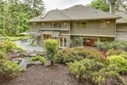 The back yard of a Sammamish home that recently sold for $1.043 million to Chinese  buyers.