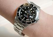 A Rolex stainless black dial GMT Master from the estate collection at Fox's Gem Shop in Seattle.