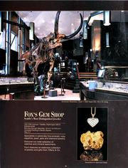 A Fox's Gem Shop ad from the mid-1980s shows the mastodon skeleton that once was a signature of the showroom floor. The mastodon is now on permanent loan at the Burke Museum of Natural History and Culture at the University of Washington.