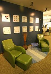 An employee lounge at Google's offices in the Fremont neighborhood of Seattle.