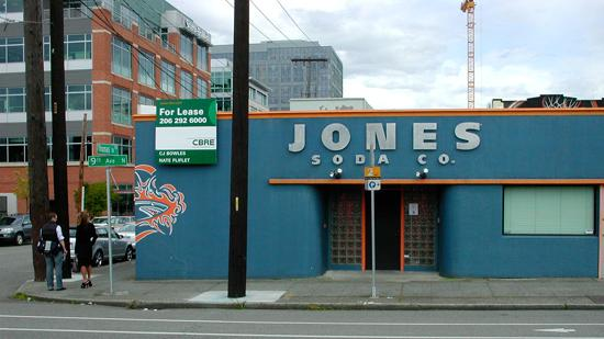 Jones Soda is moving from its Ninth Avenue and Thomas Street headquarters building in South Lake Union by the end of August.