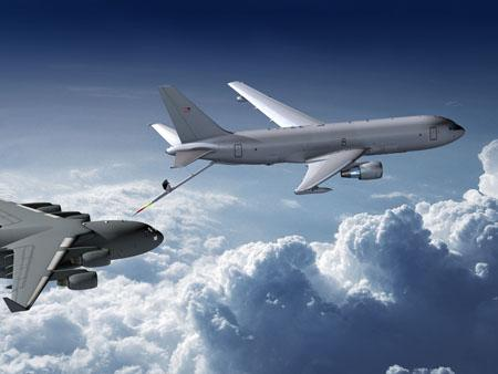 The threat of sequestration is bringing uncertainty to Boeing's KC-46 tanker program.