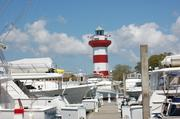 This 90-foot lighthouse, built as part of the Hilton Head, S.C., marina development, is a popular attraction for local boaters.