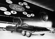"This five-wheeled, rear-steering ""space-age"" themed Ford car was displayed at the 1962 Seattle World's Fair. Ford, General Motors and other auto manufacturers used the expo  to showcase their futuristic car designs.  The archive photo was taken by Seattle photojournalist Bruce McKim."