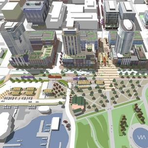 Vulcan Real Estate is proposing to build three high-rises near the shore of South Lake Union.