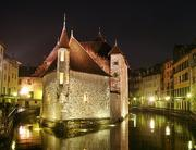 Annecy's 12th century prison, the Palais de l'Isle.