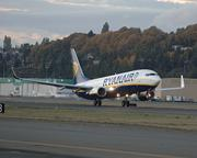 Ryanair has built its business around Boeing 737s. Here Boeing delivers the 300th 737-800, in 2011.