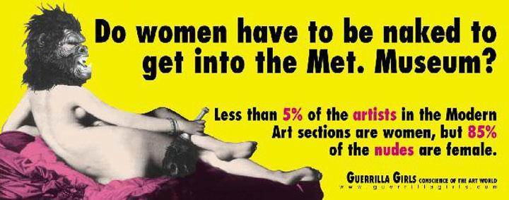 """Untitled,"" Guerrilla Girls, 1989 Centre Georges Pompidou"