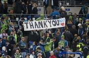 Seattle Sounders fans show their support Saturday at CenturyLink Field.