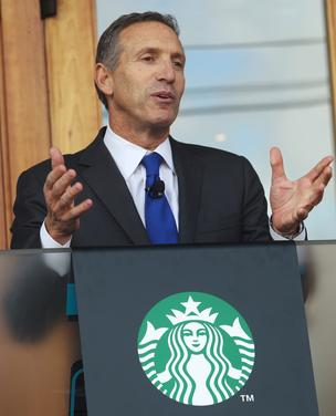 Starbucks CEO Howard Schultz said the company has