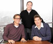 Gathering at Zillow's Seattle headquarters are, from left, Rich Barton, Spencer Rascoff and Mark Britton. The three entrepreneurs crossed paths at Expedia, and then created some of the region's other highly successful online companies, including Zillow.