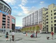 Lakeside Capital Management is moving ahead with plans for Stadium Terrace, a mixed-use apartment project next to CenturyLink Field, which is on the left side of this rendering.