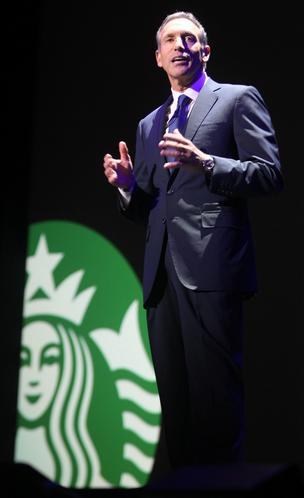 Starbucks CEO Howard Schultz has said the new Create Jobs for USA program will get