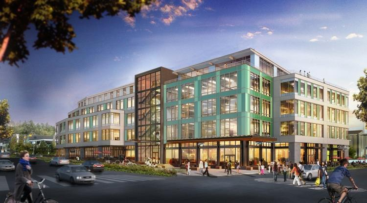 """Construction of Stone34, which will be Brooks Sports' headquarters, will begin Tuesday. The """"deep-green"""" building is designed to significantly reduce water and energy consumption."""