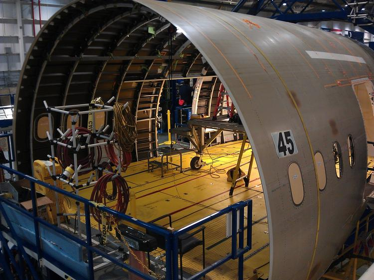 Boeing now operates two join tools in North Charleston aft body factory, and will add a third.