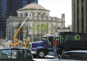 Construction work was being done next door to the First United Methodist Church when this file photo was taken in 2007.