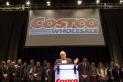 Outgoing Costco CEO Jim Sinegal addresses the crowd at the Costco shareholders meeting Thursday at the Meydenbauer Center in Bellevue.
