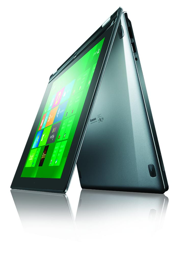 Microsoft hopes Windows 8 will be a hit on devices such as this Lenovo Yoga Ultrabook.