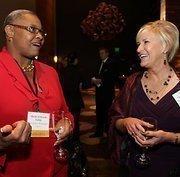 Puget Sound Business Journal 2011 Women of Influence honorees Shiela Edwards Lange and Janet Denyer celebrate at the Hyatt Regency Belleuve.
