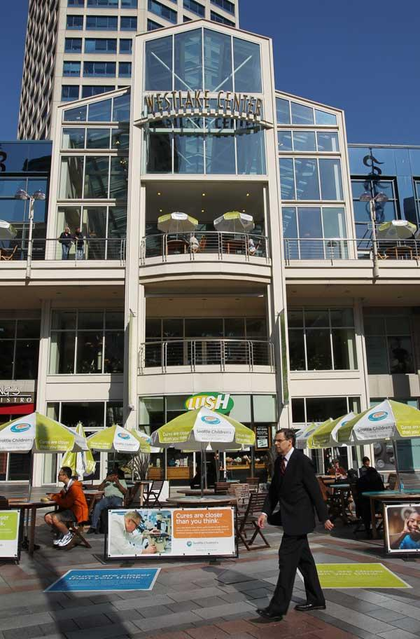 Westlake Center's familiar front facade could change dramatically.