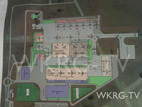 The alleged Airbus map, published by WKRG TV, shows a single production line with four assembly stations.