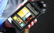 The Kindle Fire is smaller than an iPad, which Amazon says makes it easier to hold.