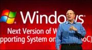 Microsoft CEO Steve Ballmer talks about the future of Windows on slates and other mobile computers at the Consumer Electronics Show in Las Vegas last year. (Microsoft photo)